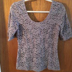 Mudd Lace Shirt Purple Large
